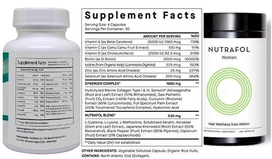 list of ingredients for folexin and nutrafol